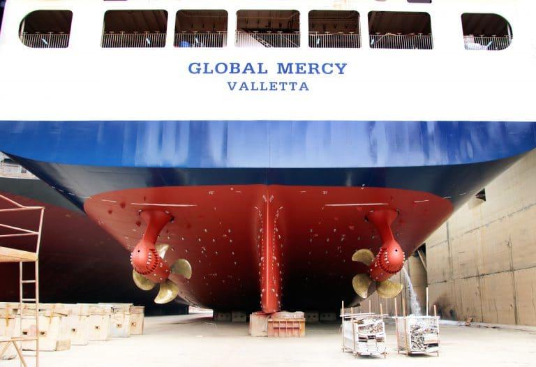 Azipod® propulsion installed on Global Mercy. Image credit Stena RoRo.